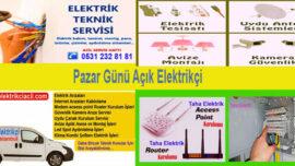 Pazar Günü Açık Elektrikçiler